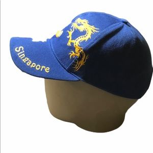 Singapore Cap Chinese Dragon Design